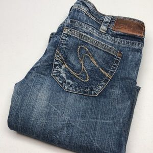 """RETRO SILVER TUESDAY WESTERN JEANS 31x33"""" THICK DENIM 😎"""